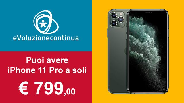 Acquista iPhone 11 pro a 799